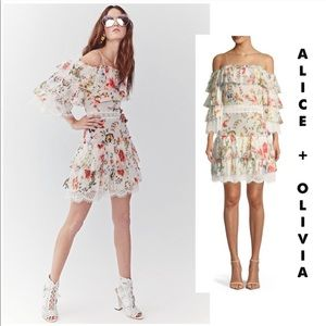 "Alice + Olivia ""Santos"" floral soirée dress 8"